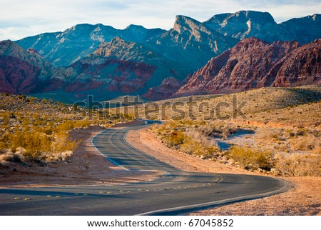 The Desert Of Red Rock Canyon