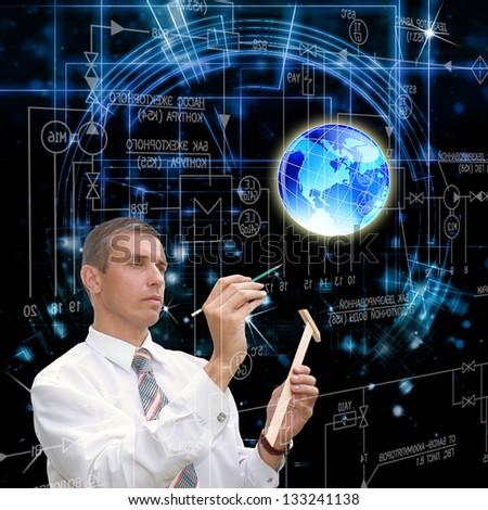 The designing cosmic  technologies - stock photo
