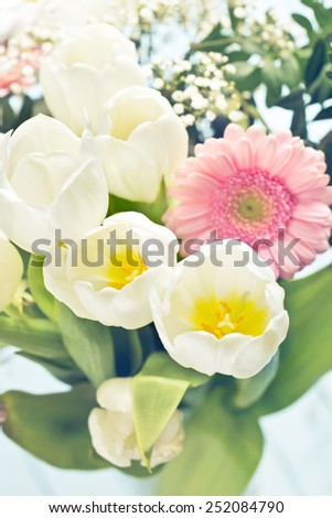 the detail bouquet of flowers - stock photo