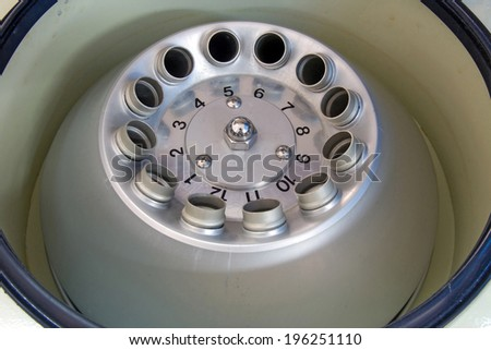 the detailed view of the centrifuge for the analysis of urine  - stock photo