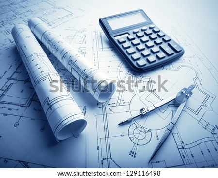 The development of technology project - stock photo