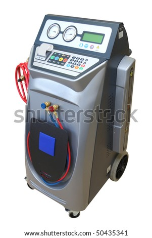 The device for  air-conditioner check under the white background - stock photo