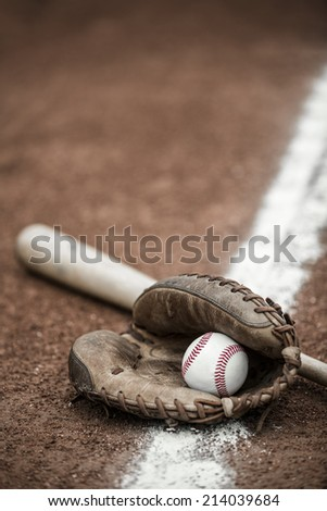 the devices of baseball - stock photo
