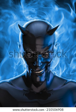 The devil in black - stock photo
