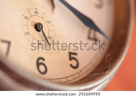 The dial of the old clock - stock photo