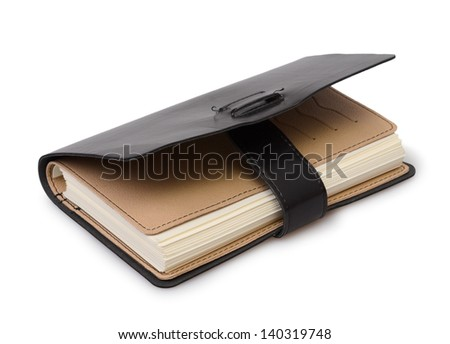 The diary isolated on a white background - stock photo