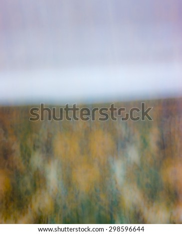 The digital blur Abstract picture. The woman in the forest. - stock photo