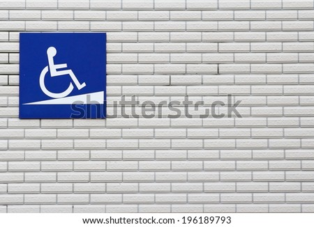 The Disabled on wall