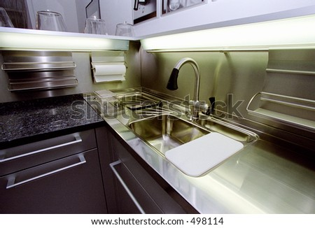 The dishwasher - some grain - stock photo