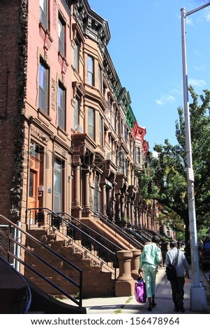 The district of Harlem - stock photo