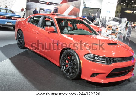 The 2015 Dodge Charger at The North American International Auto Show January 13, 2015 in Detroit, Michigan. - stock photo