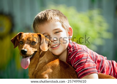 The dog is my best friend - stock photo