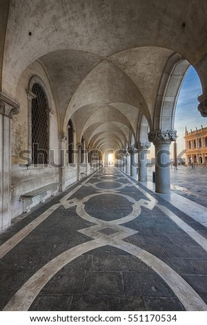 The Doge's Palace from venice, italy
