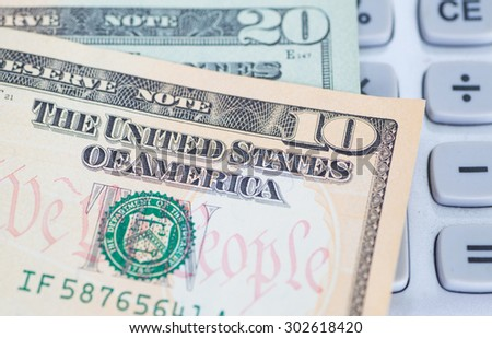 The dollar banknotes for business and finance concept