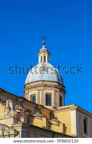 The dome of the church in Italy