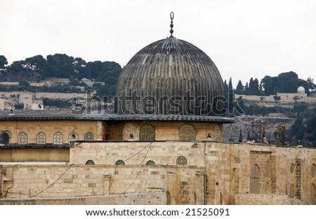The Dome of The Rock Jerusalem - stock photo