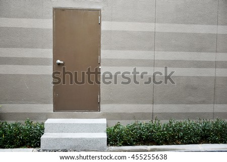 The door and step - stock photo