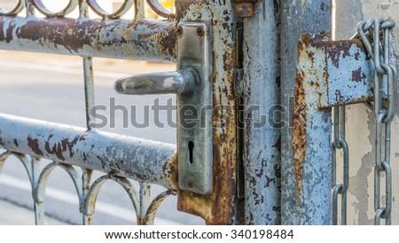 the door is opened - stock photo