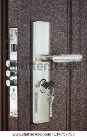 The door lock with keys in situation it is closed & Door Lock With Key Stock Images Royalty-Free Images u0026 Vectors ... pezcame.com