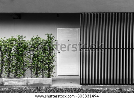 The door of the apartment,modern loft style - stock photo