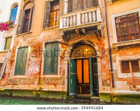 The door on the canal - Venice