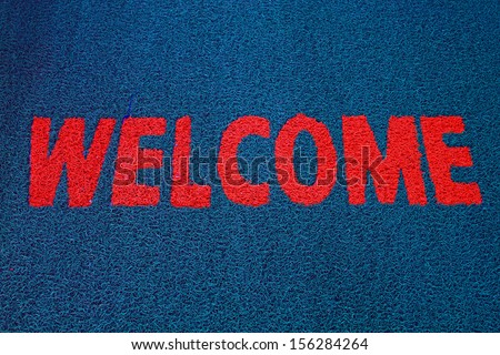 The Doormat of welcome text