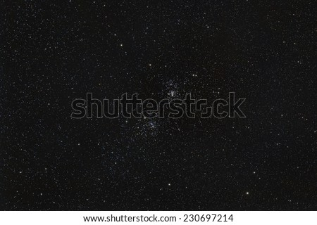 The Double Cluster in Perseus - stock photo