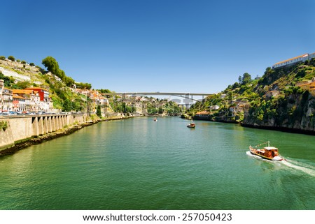 The Douro River in Porto, Portugal. Porto is one of the most popular tourist destinations in Europe.