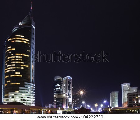 the downtown of Kazakhstan capital - stock photo