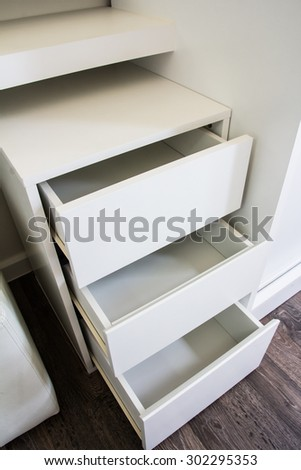 The drawer empty