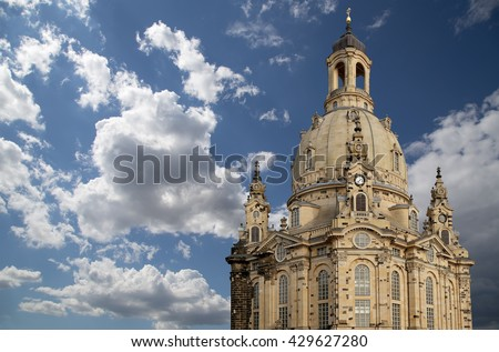 The Dresden Frauenkirche ( literally Church of Our Lady) is a Lutheran church in Dresden, Germany