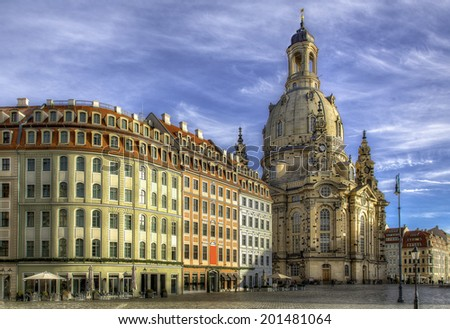 The Dresden Square and Cathedral