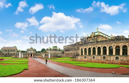 The Dresden, Zwinger museum Germany - stock photo