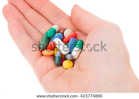 The drug in the hand