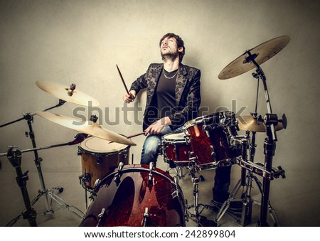 The drums  - stock photo