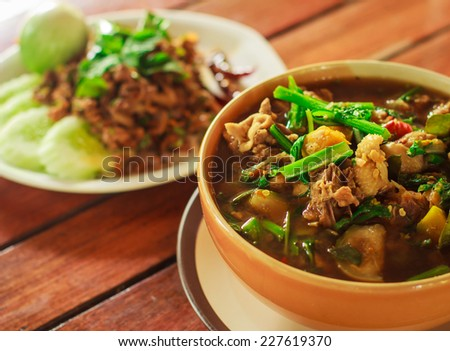 The duck stewed in the gravy sauce ready for sale in Thailand