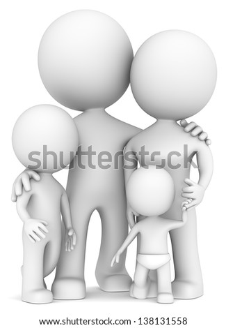 The Dude with family. - stock photo