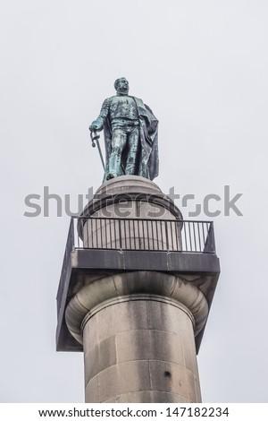 The Duke of York Column - monument to Prince Frederick Augustus, Duke of York - second eldest son of King George III. Designer - Benjamin Dean Wyatt, built in 1834. London, Waterloo Place. - stock photo