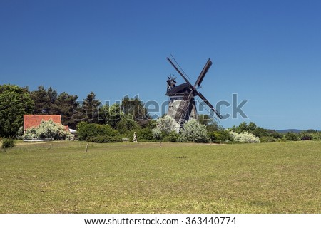 The Dutch windmill in Benz, Germany - stock photo