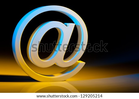 the e-mail characters. modern communication on the internet. - stock photo