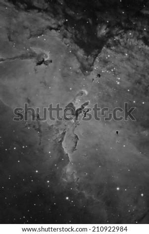 The Eagle Nebula in Narrow Band - stock photo