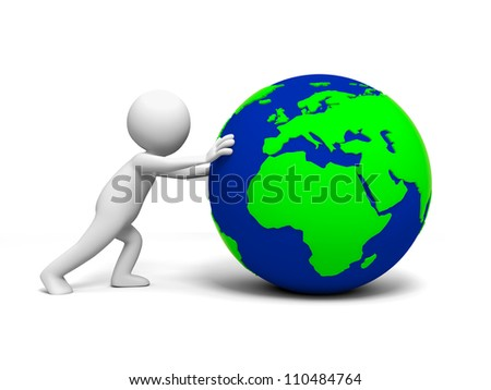 The earth/A people in pushing the earth