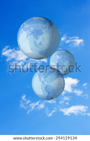The earth and the sky - stock photo