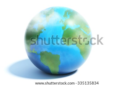 the Earth 3D illustration - stock photo