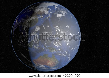 The Earth(3d rendering)