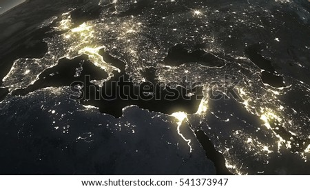 Satellite View Europe Stock Images RoyaltyFree Images Vectors - World satellite night view