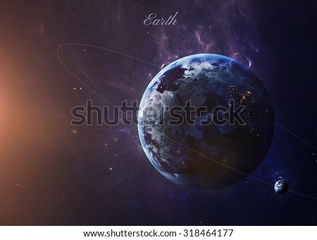 The Earth from space showing all they beauty. Extremely detailed image, including elements furnished by NASA. Other orientations and planets available.