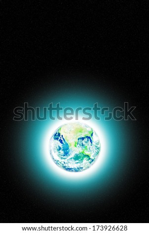 The Earth in space showing North, Central and South America. Image elements furnished by NASA.