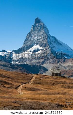 The east face of the Matterhorn, Zermatt, Switzerland - stock photo