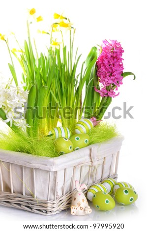 The Easter Composition - stock photo